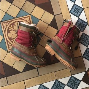 Lands End Kids Lined Winter Duck Boots size 9M